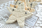 Personalized Starfish Bridal Shower Wedding Favors Salt Dough Napkin Ring Ornaments Set of 10