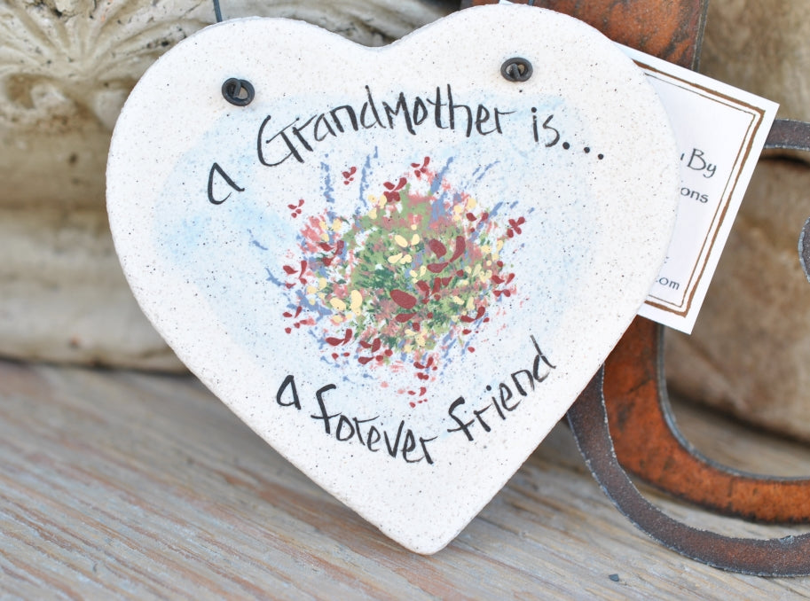 Grandmother Birthday gift salt dough Christmas birthday gift ornament