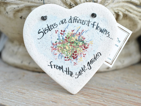 Sister Birthday or Christmas Gift Salt Dough Ornament