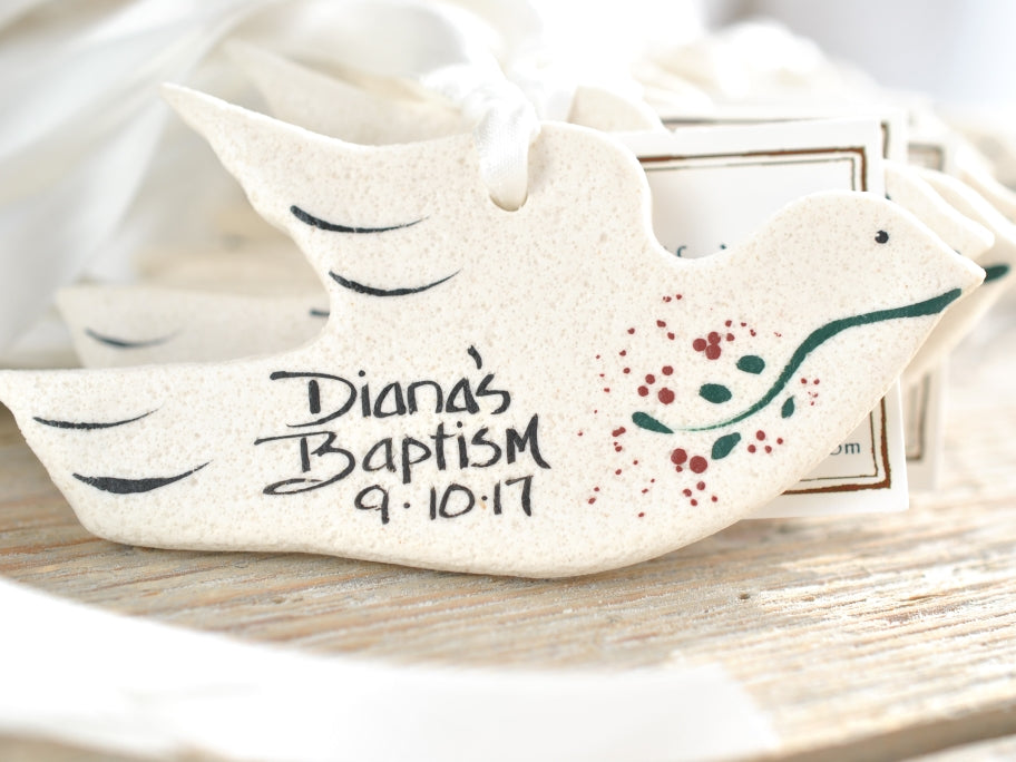 Baptism Communion Christening Wedding Favors Dove salt dough