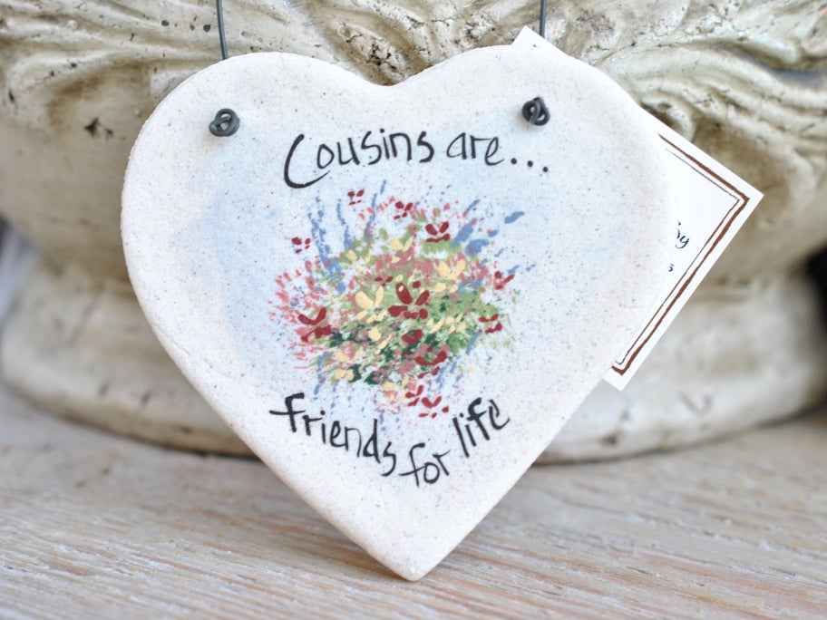 Cousin gift idea personalized salt dough Christmas ornament