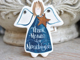 neonatologist gift salt dough thank you Christmas ornaments