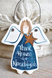 Neonatologist Gift Salt Dough Thank You Ornament