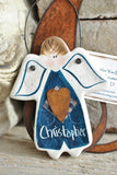 Personalized Boy Memorial or Novelty Memory Christmas Salt Dough Ornament