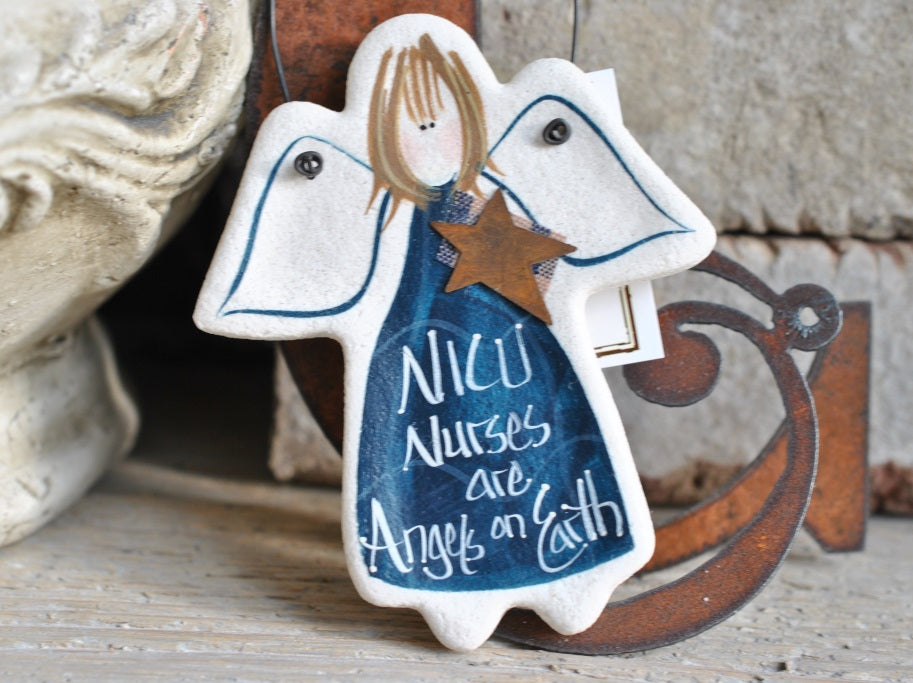 RESERVED LISTING for J.Nichols Set of 45 NICU Nurse Gift Salt Dough Thank You Ornament