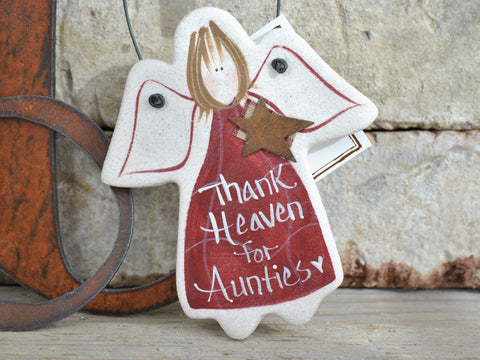 Aunt Birthday, Christmas Gift Salt Dough Ornament