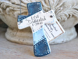 Colorful Salt Dough Cross Ornament Baptism Favors / Christening Gifts