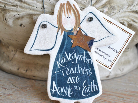 Kindergarten Teacher Salt Dough Ornament Gift