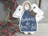 Godparents Gift Salt Dough Angel Ornament