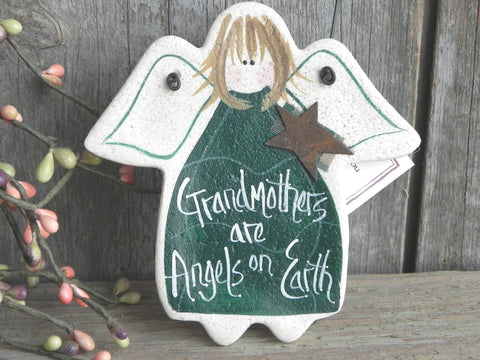 Grandmother Gift Salt Dough Ornament