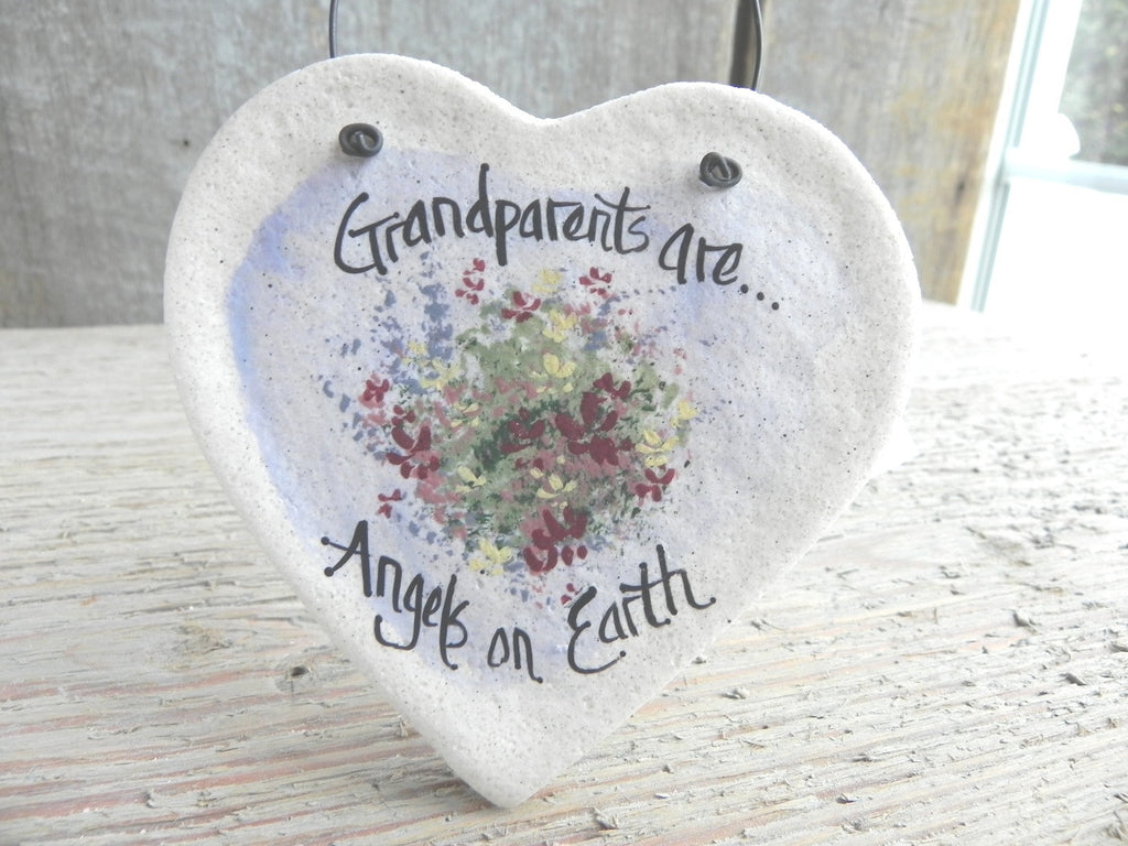 Salt Dough Ornament Gift for Grandparents / Birthday / Mother's Day / Christmas Ornament / Wedding