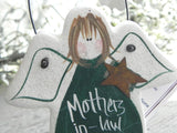 Mother in Law Gift Salt Dough Ornament
