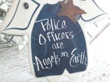 Policeman Gift Salt Dough Ornament