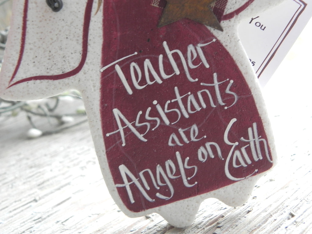 Teacher Assistant Gift Salt Dough Ornament – Cookie Dough Creations