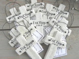 baptism cross favor salt dough Easter napkin ring ornaments