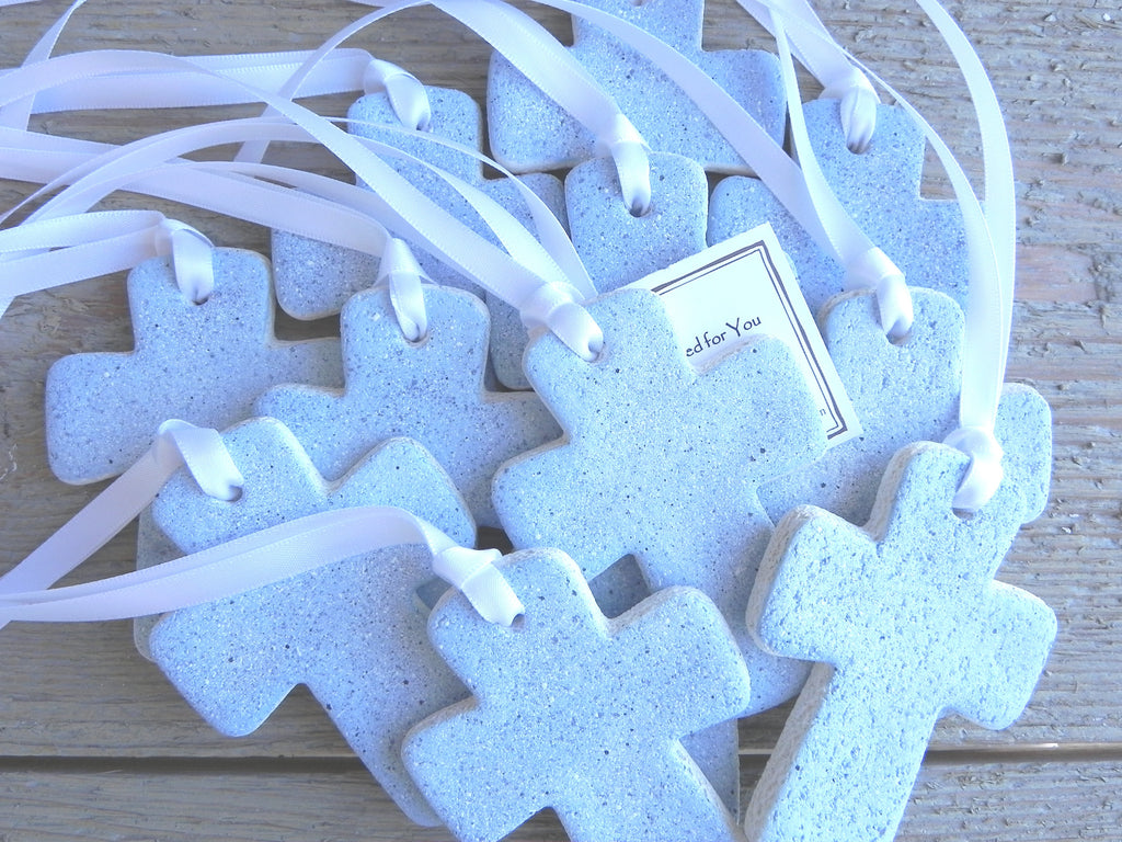 Set of 10 Chunky Cross Salt Dough Ornaments