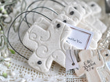 Personalized Baptism / Wedding Favors Set of 6 Salt Dough Cross Ornaments