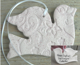Baptism / Wedding Gifts / Favors Salt Dough Dove Ornament