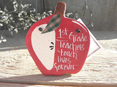 1st Grade Teacher Gift Salt Dough Ornament