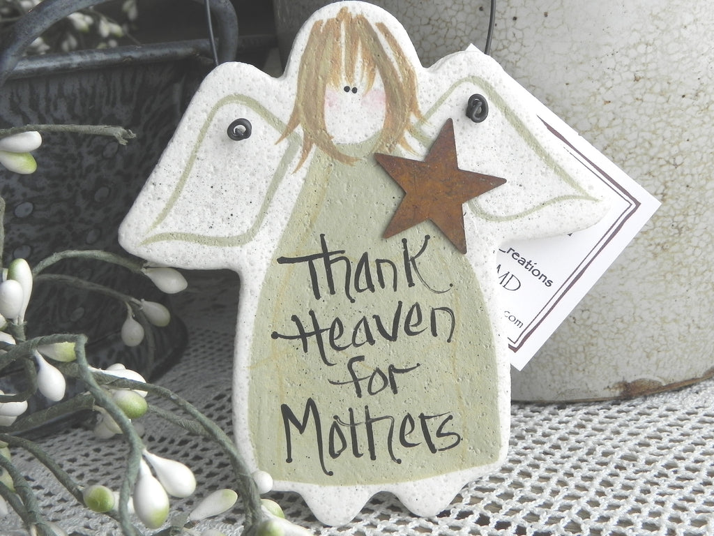 Mothers Day Wedding Day Gift For Mother Salt Dough Ornament