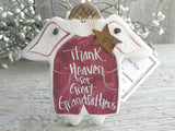 Great Grandfather Gift Salt Dough Ornament