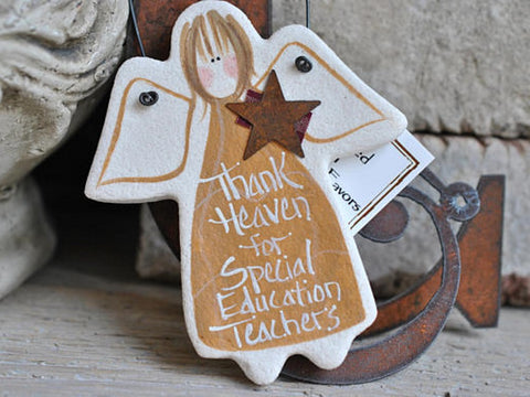 Special Education Teacher Gift Salt Dough Ornament