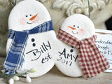 Couples Ornament Gift Salt Dough Snowman Ornament