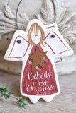 Personalized Baby's First Christmas Gift Salt Dough Angel Ornament