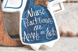 Nurse Practitioner Salt Dough Ornament Gift