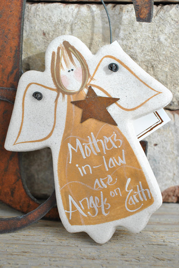 Mother in Law salt dough gift ornament for Mother's day or birthday for mom