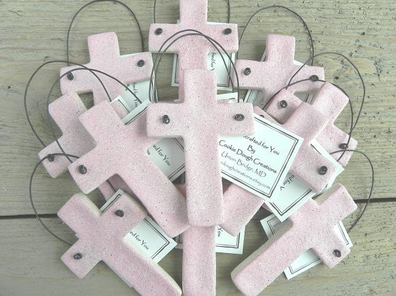 Cross Baptism / Communion or Easter Favors Wholesale Set of 6