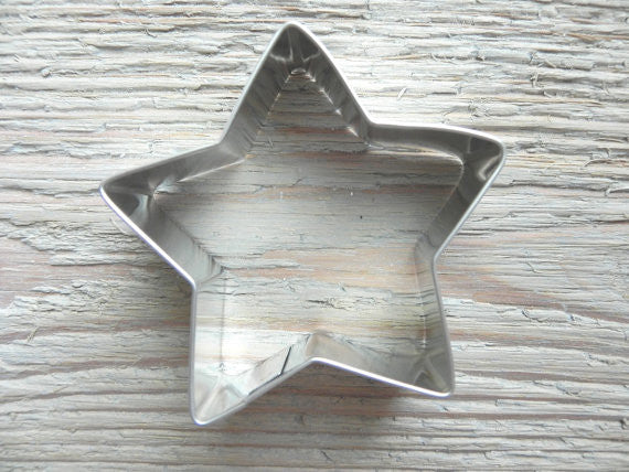 Star Tin Cookie Cutter Baking / Craft Supplies 2 3/4 inch star
