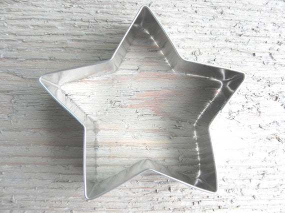 Tin Star Cookie Cutter 3.5 inch Baking / Craft Supplies