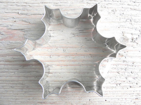 Tin Snowflake Cookie Cutter 3.5 inch Baking / Craft Supplies