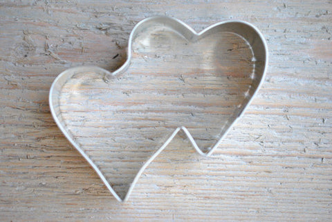 Double Heart Wedding Favor Valentine Cookie Cutter 3 3/4 inch Baking / Craft Supplies