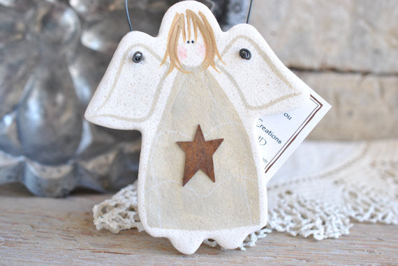 RESERVED LISTING for P.Mendoza Set of 80 White Salt Dough Angel Ornaments