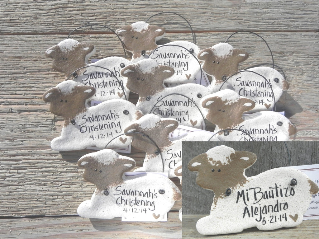 Lamb Salt Dough Baptism Favors Set of 10