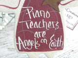 Piano Teacher Gift Salt Dough Ornament