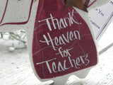 Teacher Gift Salt Dough Ornament