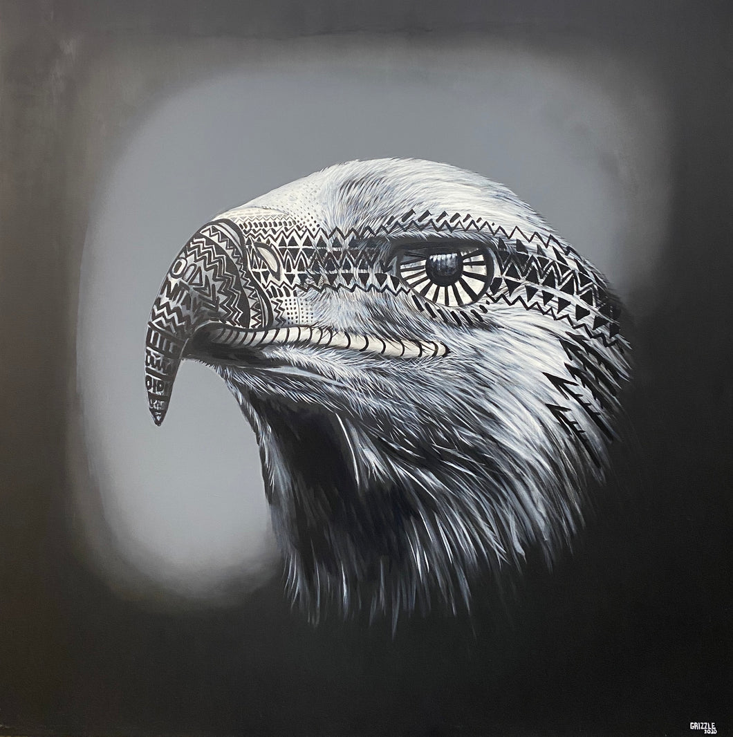 American Eagle, 4.5 x 4.5' Original Painting