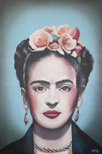 Load image into Gallery viewer, Blue Frida Khalo Print!