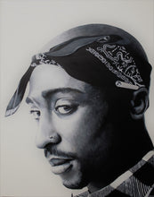 Load image into Gallery viewer, Tupac Black and White Print!