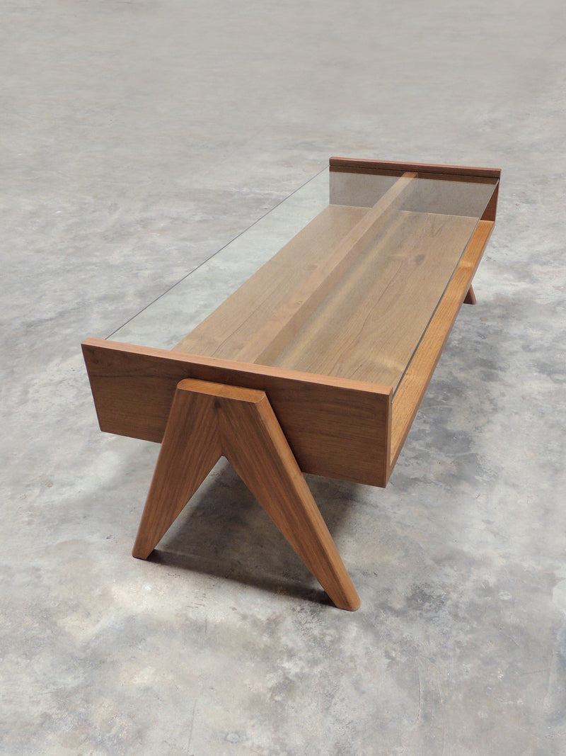 Phantom Hands Coffee Table with Glass Top