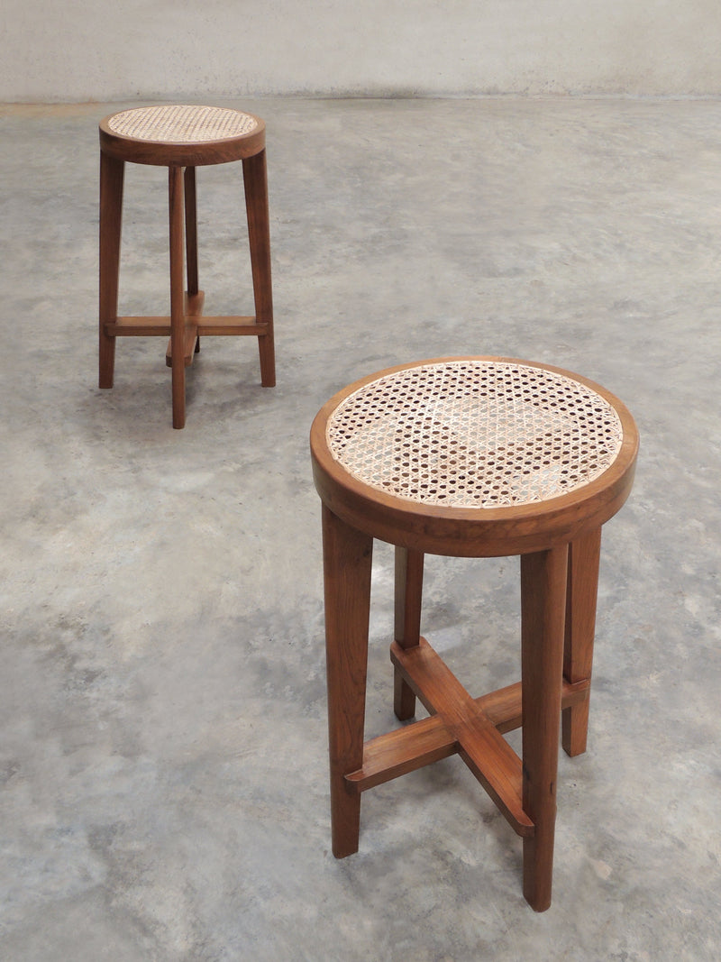 Phantom Hands High Stool with Cane Seat