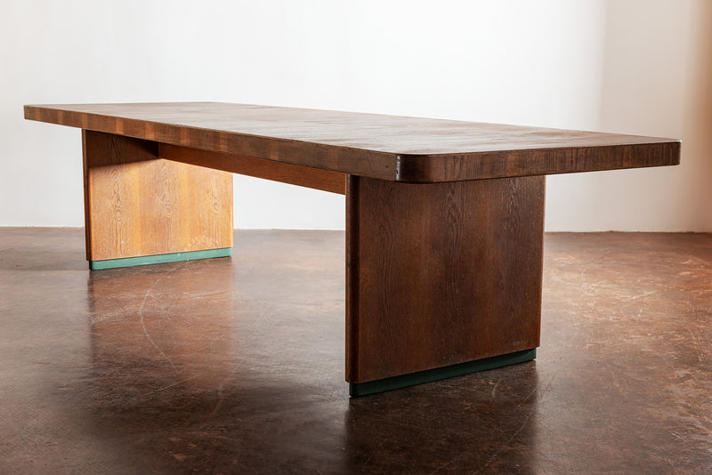 Handsome, Large French Dining Table in Oak Veneer, 1950s