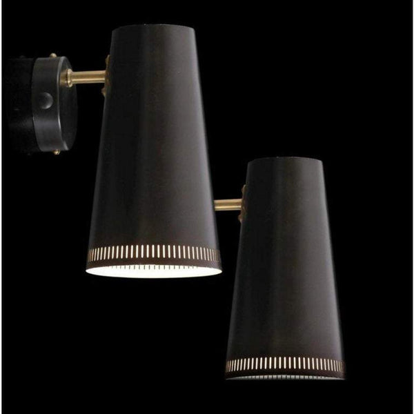 Pair of Paavo Tynell for Taito Oy Wall Lamps, Finland, 1950s