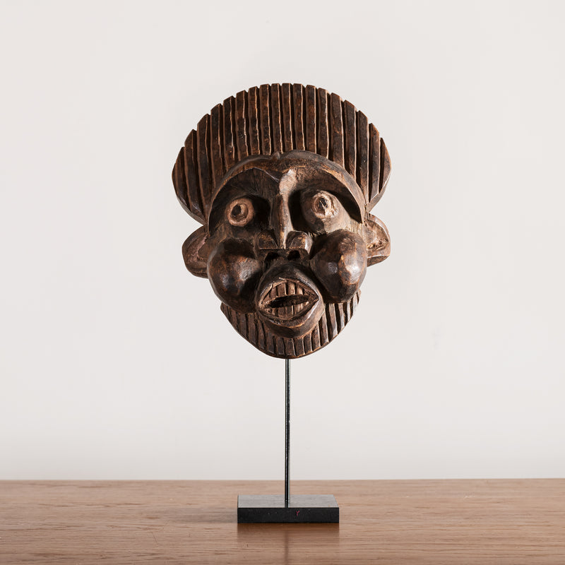 Decorative African Mask, Cameroon, 1950s