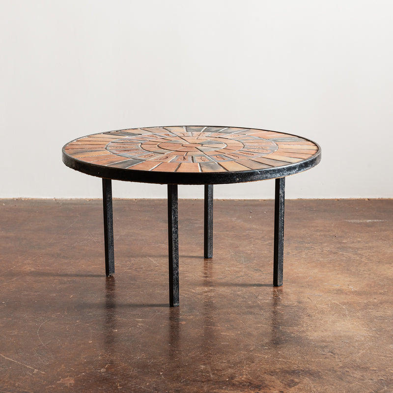 Classic Roger Capron Coffee Table with Garrigue Tiles, France, 1960s