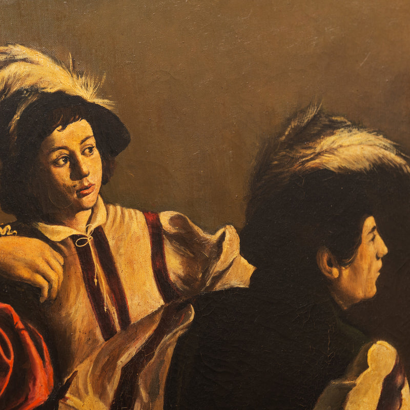 "20th Century Oil Painting after ""The Calling of St. Matthew"" by Caravaggio"