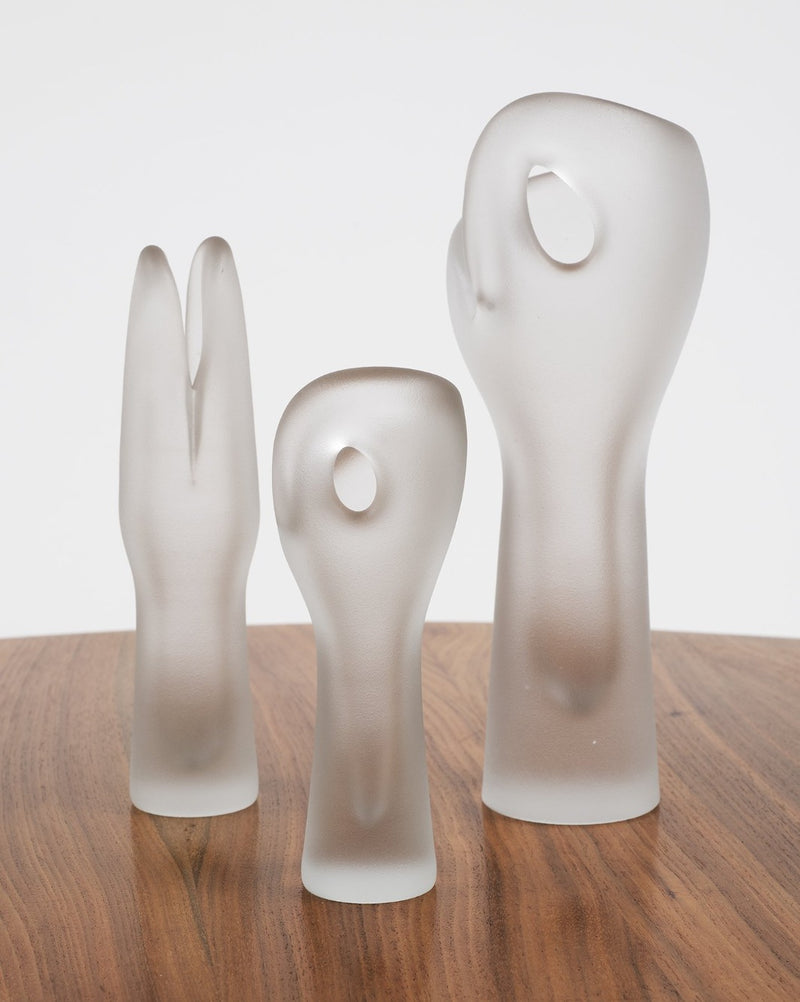 Trio of Glass Sculptures by Timo Sarpaneva for Iitalla, Finland, 1951